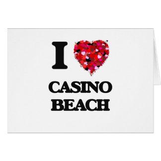 I love Casino Beach Florida Greeting Card