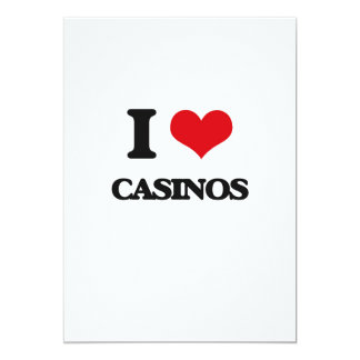 I love Casinos 13 Cm X 18 Cm Invitation Card