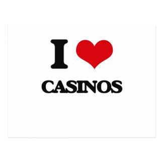 I love Casinos Post Cards