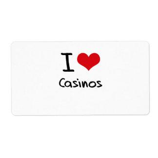I love Casinos Shipping Label