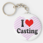 I love Casting Key Chain