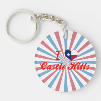 I Love Castle Hills, Texas Key Chains