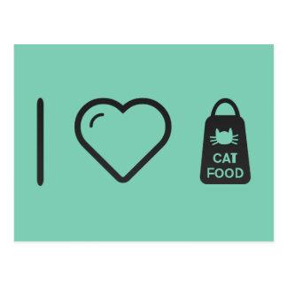 I Love Cat Food Postcard