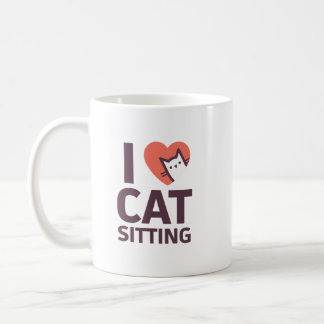 I Love Cat Sitting Coffee Mug