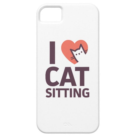 I Love Cat Sitting iPhone 5 Covers