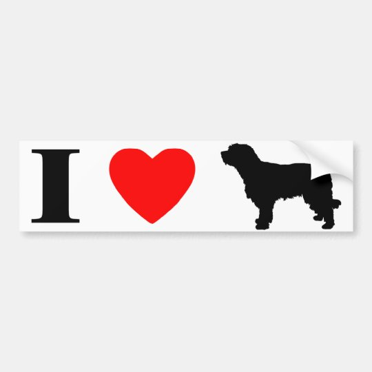 I Love Catalan Sheepdogs Bumper Sticker