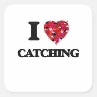 I love Catching Square Sticker