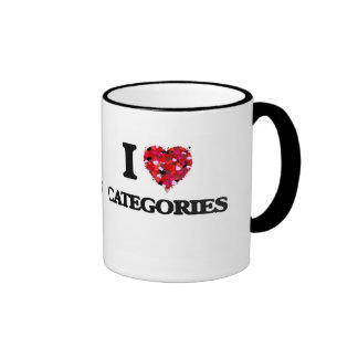 I love Categories Ringer Mug
