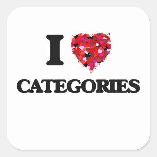 I love Categories Square Sticker