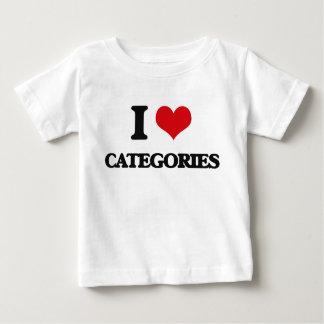I love Categories T Shirt