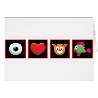 I Love Catfish Card