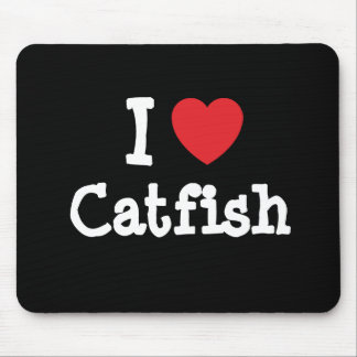 I love Catfish heart T-Shirt Mouse Mats