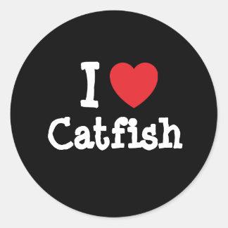 I love Catfish heart T-Shirt Sticker