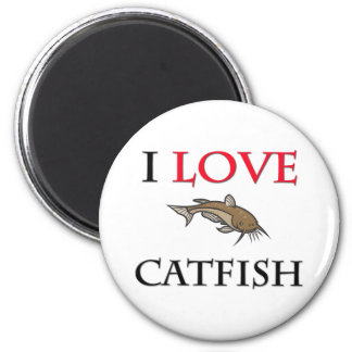 I Love Catfish Magnet