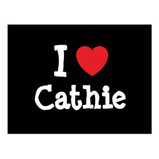 I love Cathie heart T-Shirt Postcards