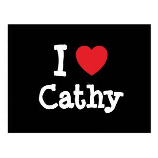 I love Cathy heart T-Shirt Postcard