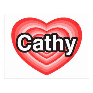 I love Cathy. I love you Cathy. Heart Post Card