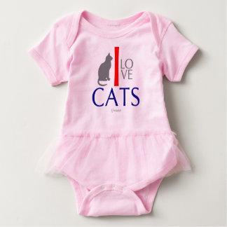 I Love Cats Animals by VIMAGO Baby Bodysuit