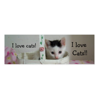 I love Cats Bookmark! Pack Of Skinny Business Cards