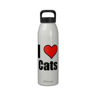 I Love Cats Drinking Bottle