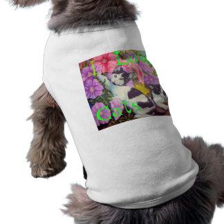 I Love Cats, kittens playing Sleeveless Dog Shirt