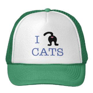 I Love Cats Kitty Butt Hat Humor