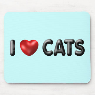 I love Cats Mouse Mat