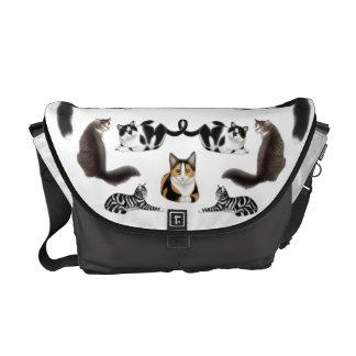 I Love Cats Rickshaw Messenger Bag