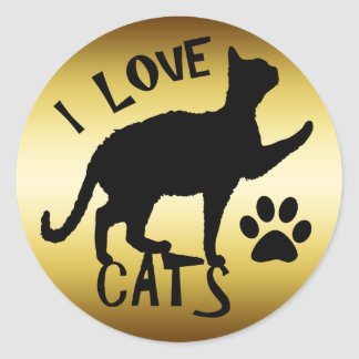 I LOVE CATS STICKERS