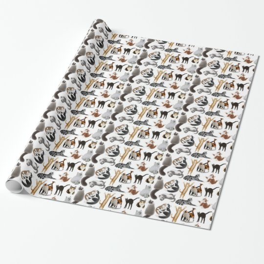 I Love Cats Wrapping Paper