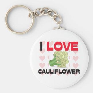 I Love Cauliflower Basic Round Button Key Ring