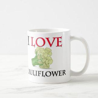 I Love Cauliflower Basic White Mug