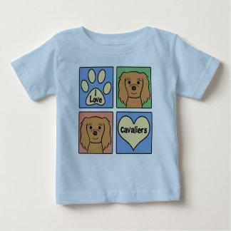 I Love Cavalier King Charles Spaniels Baby T-Shirt