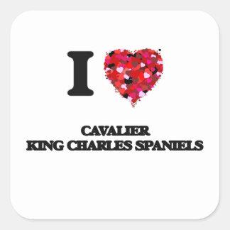 I love Cavalier King Charles Spaniels Square Sticker
