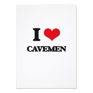 I love Cavemen 13 Cm X 18 Cm Invitation Card