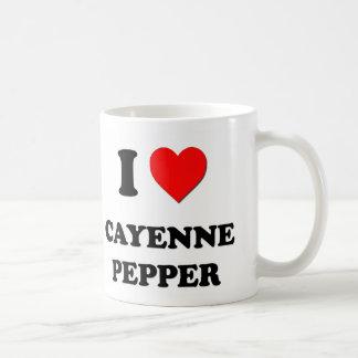 I Love Cayenne Pepper ( Food ) Coffee Mugs