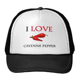 I Love Cayenne Pepper Trucker Hat