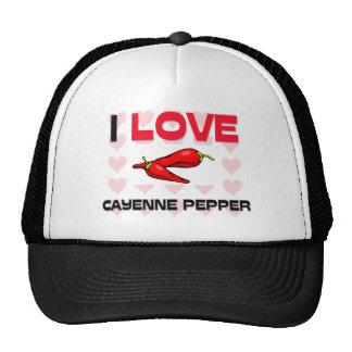 I Love Cayenne Pepper Hats
