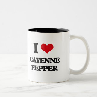 I Love Cayenne Pepper Mugs
