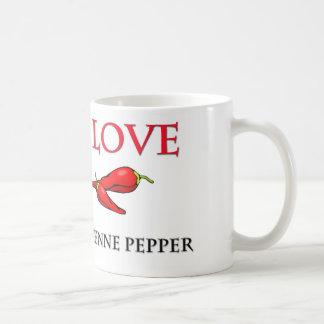 I Love Cayenne Pepper Coffee Mugs