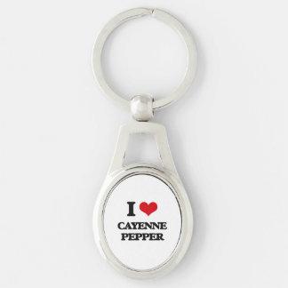 I Love Cayenne Pepper Key Chains