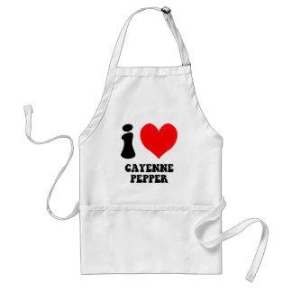 i love cayenne pepper standard apron