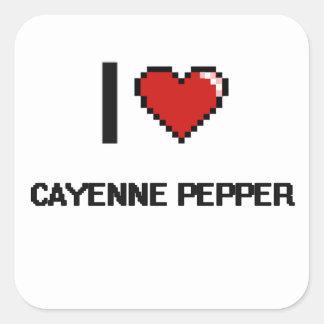 I Love Cayenne Pepper Square Sticker