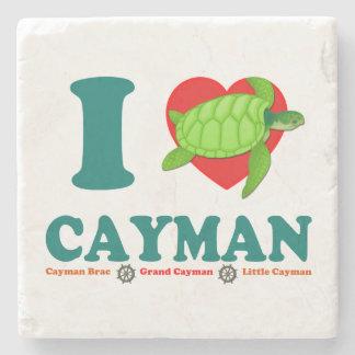 I Love Cayman Caribbean Style Souvenir Stone Coaster