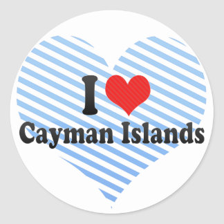 I Love Cayman Islands Classic Round Sticker