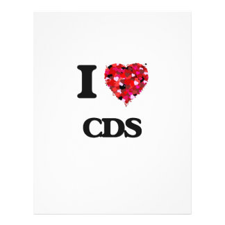 I love CDs 21.5 Cm X 28 Cm Flyer