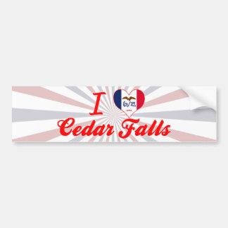 I Love Cedar Falls, Iowa Bumper Stickers
