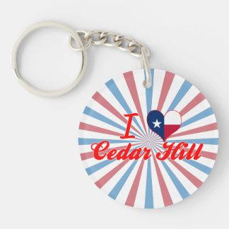 I Love Cedar Hill Texas Keychain