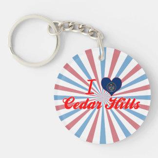 I Love Cedar Hills Utah Keychains
