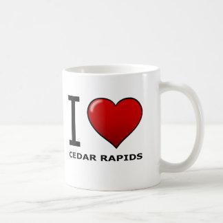 I LOVE CEDAR RAPIDS,IA - IOWA BASIC WHITE MUG